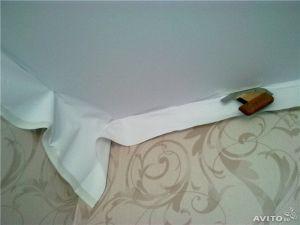 Монтаж тканевых натяжных потолков